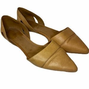MADEWELL D'Orsay Tan Slip On Flat Shoes 6.5